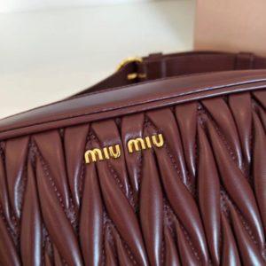 MIUMIU MATELASSE FANNY PACK<br>미우미우 마테라쎄 패니팩<br>[22x14x7cm]