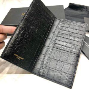 YSL LOGO LEATHER WALLET 입생로랑 로고 레더 장지갑