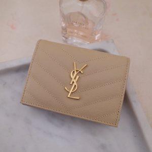 YSL CARD WALLET<br>입생로랑 카드 지갑<br><i>11×8.5cm 이태리가죽</i>