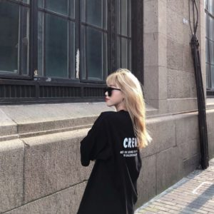 Balenciaga X Crew Print Oversized T-Shirt 발렌시아가 라지핏 프린트 티셔츠