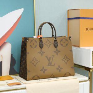 Louis Vuitton Reverse Monogram Giant Onthego tote bag  루이비통 리버스 모노그램 자이언트 온더 고 토트 숄더백 [M사이즈]
