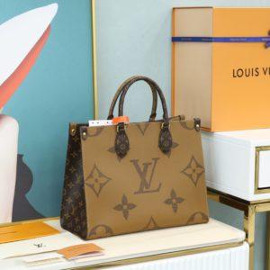 Louis Vuitton Reverse Monogram Giant Onthego tote bag  루이비통 리버스 모노그램 자이언트 온더 고 토트 숄더백 [S사이즈]