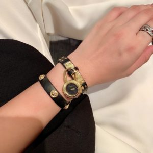 [VERSACE] 베르사체 메두사 락 아이콘 쿼츠 블랙 다이얼 여성용 시계 Medusa Lock Icon Quartz Black Dial Ladies Watch