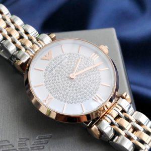 [EMPORIO ARMANI] 엠포리오 아르마니 스테인리스 스틸 스트랩 여성용 쿼츠 시계 Women's Quartz Watch with Stainless-Steel Strap AR-1925