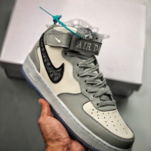 [NIKE X DIOR] 나이키 에어포스1 미드 디올 New Nike Air Force 1 Mid Dior White Grey CT1266-700