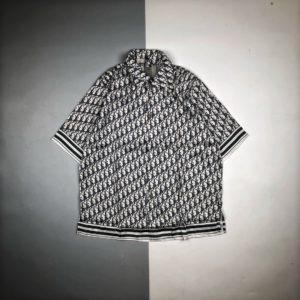 [DIOR] 디올 오블리크 하와이안 반팔 셔츠
