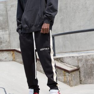 [FEAR OF GOD] 피어오브갓 사이드 스트라이프 캘리포니아 리미티드 드로스트링 롱 팬츠 Fog Essentials Side Stripe California Limited Drawstring Long Pants