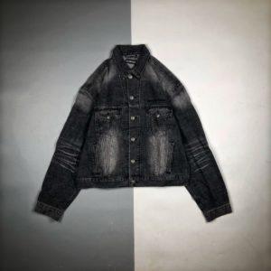 [BALENCIAGA] 발렌시아가 20FW 자수 백 데님 재킷