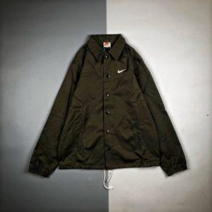 [NIKE x STUSSY] 나이키 x 스투시 레트로 캐주얼 로고 스포츠 버튼 코치 재킷 코트