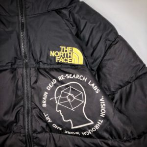 [BRAIN DEAD X THE NORTH FACE] 브레인데드 x 노스페이스 20FW 그래피티 다운 재킷