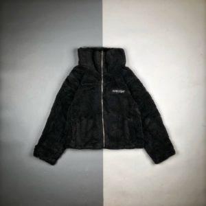 [AMBUSH] 앰부시 레터 자수 램 스웨이드 퍼 코트