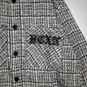 [FAITH CONNEXION x KRIS] FC연맹 흑백 파인 체크 우븐 셔츠 재킷