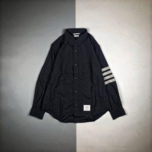 [THOM BROWNE] 톰브라운 TB 20FW 울 원사 염색 셔츠 재킷