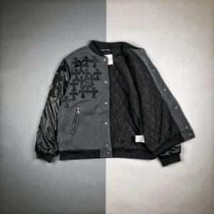[CHROME HEARTS] 크롬하츠 20FW 가죽 슬리브 스티치 코튼 재킷