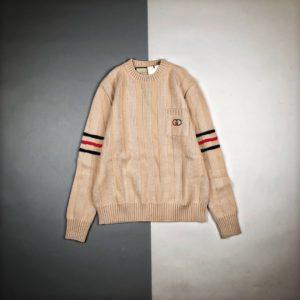 [GUCCI] 구찌 20FW 더블G 로고 롱 슬리브 라운드넥 스웨터