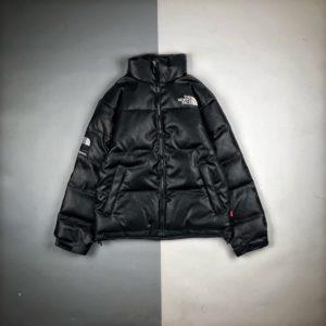 [THE NORTH FACE X SUPREME] 노스페이스 x 슈프림 가죽 패딩 자켓