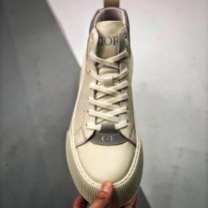 [DIOR] 디올 B33 하이탑 스니커즈 화이트 그레이 Dior B33 High White Gray