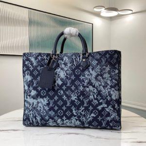 [LOUIS VUITTON] 루이비통 그랑삭 데님 시리즈 버질 아블로 토트백 Monogram Tapestry Grand Sac Tote Bag M57284