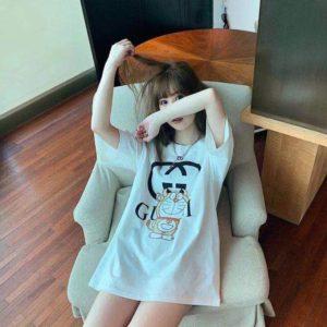 [GUCCI] 구찌 21SS 도라에몽 프린트 반팔 티셔츠