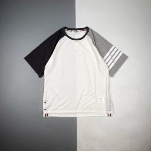 [THOM BROWNE] 톰브라운 21SS 삼색 그라데이션 배색 반팔 티셔츠
