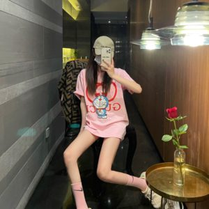 [GUCCI] 구찌 21SS 도라에몽 자수 반팔 티셔츠