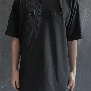 [Champion X Rick Owens] 챔피온 X 릭오웬스 21SS 자수 샌프란시스코 한정판 반팔 티셔츠