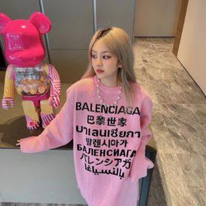 [BALENCIAGA] 발렌시아가 7개국어 자카드 스웨터
