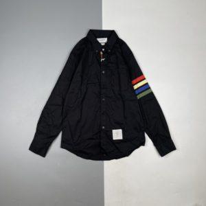 [THOM BROWNE] 톰브라운 컬러 4단 긴팔 셔츠 클래식 컷 디자인