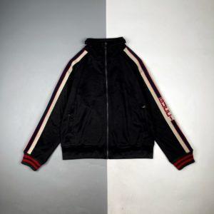 [GUCCI] 구찌 19Fw 레드 에지 로고 웨빙 긴팔 재킷
