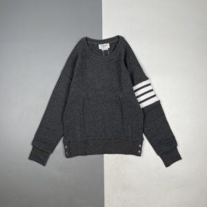 [THOM BROWNE] 톰브라운 21FW 4단 스트라이프 와플 라운드넥 스웨터