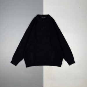 [LOUIS VUITTON] 루이비통 21Fw 자카드 타월 자수 라운드 넥 스웨터